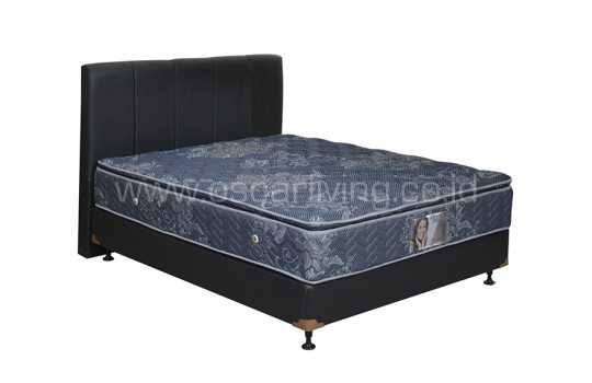 Central Grand Deluxe Single Pillowtop Bedset Vadia Oreo - Biru
